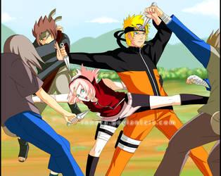 Naruto.Sakura.FIGHT by innera