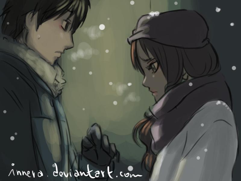 Chie - Shuuichi . SNOW . by innera