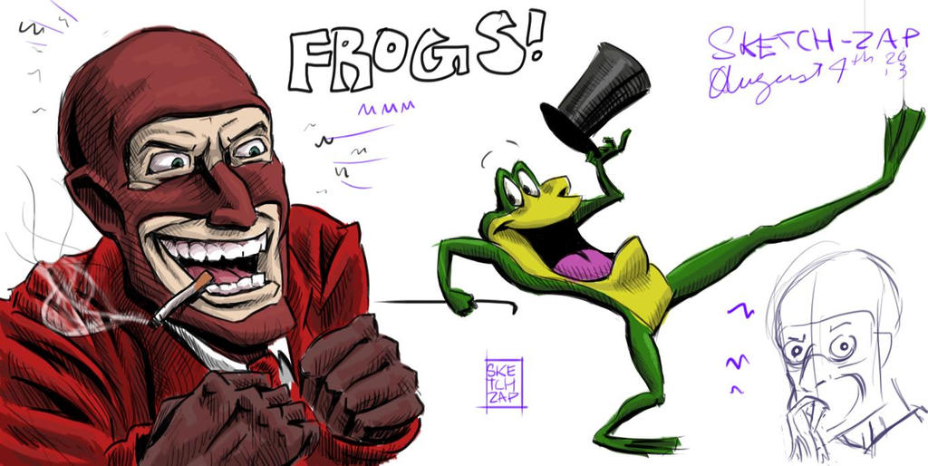 Frenchmen and Frogs by Sketch-Zap