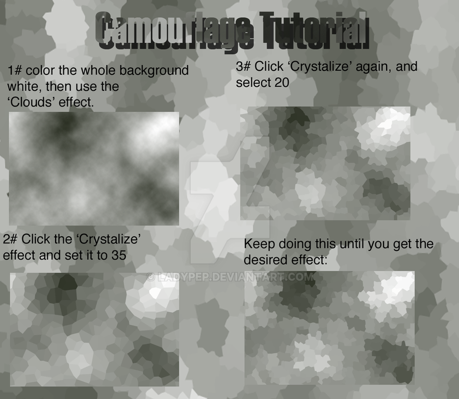 Camouflage Tutorial by LadyPep on DeviantArt