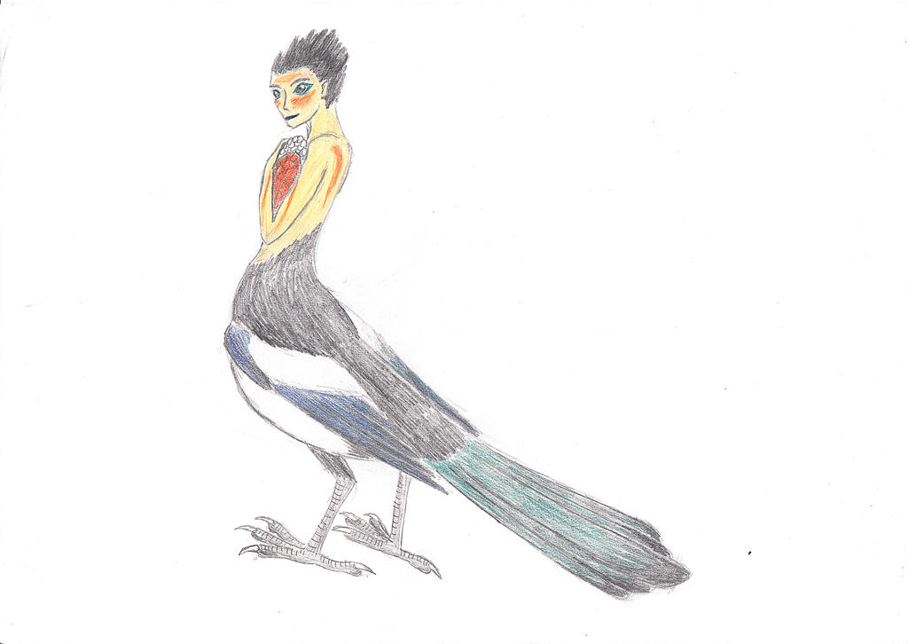 Magpie fairy by DinosaurianDude