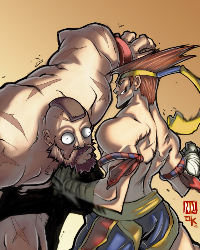 Adon vs Zangief by NicolasViig