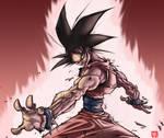Son Goku doing kaioken