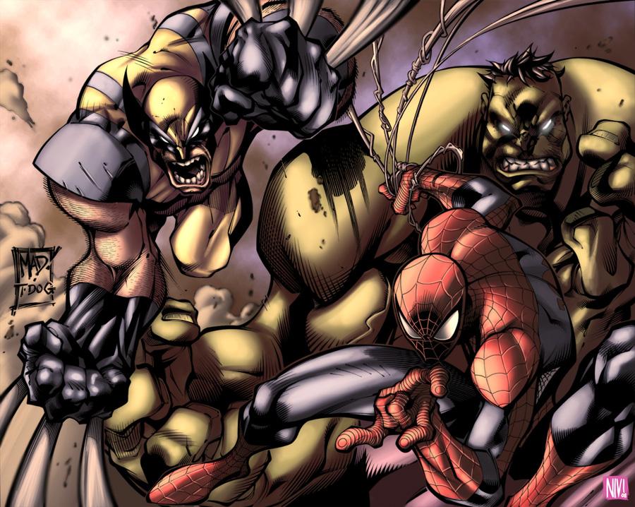 Marvel Team by NicolasViig