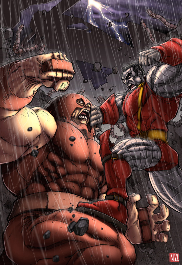 Juggernaut vs Colossus by NicolasViig