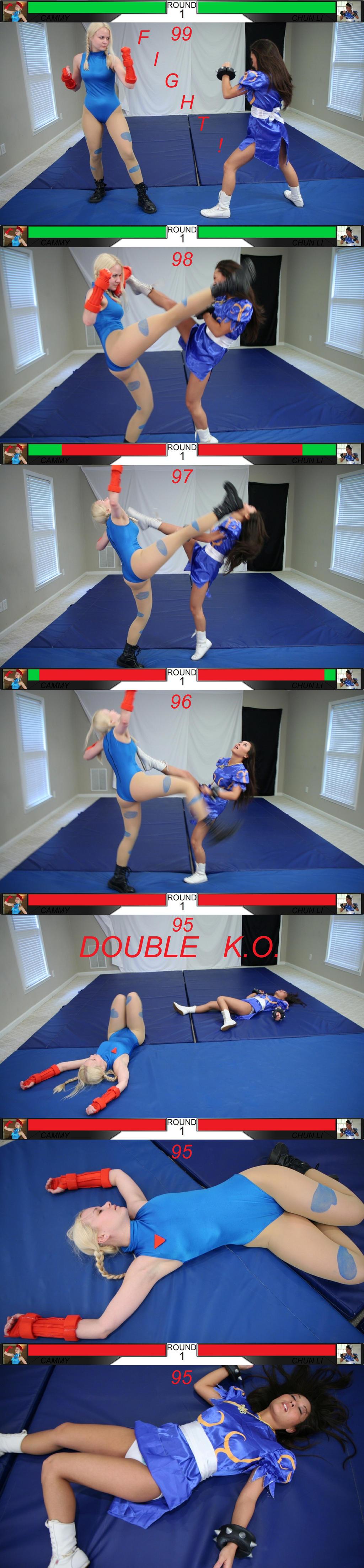 Cammy vs. Chun Li by StreetFighterFan1