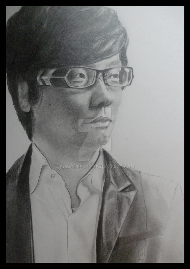 HIDEO KOJIMA PORTRAIT (METAL GEAR SOLID CREATOR) by BUMCHEEKS2