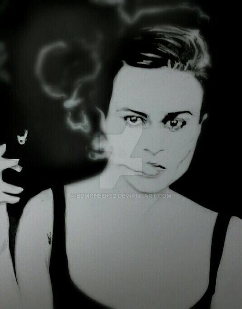 HELENA BONHAM CARTER INKED PORTRAIT by BUMCHEEKS2