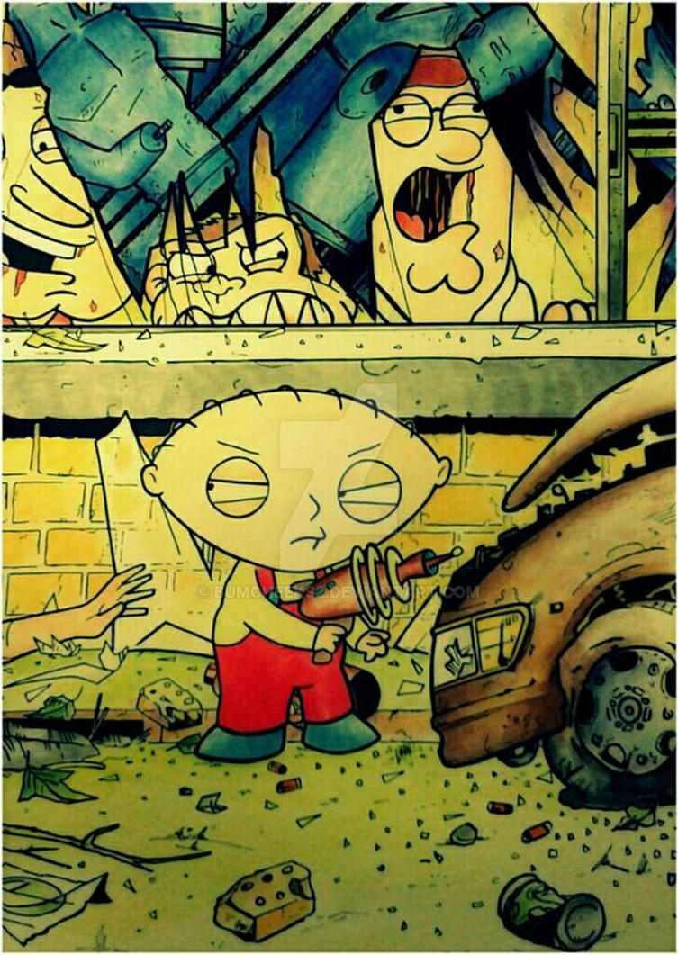 THE WALKING DEAD ISSUE 1 FAMILY GUY STEWIE by BUMCHEEKS2