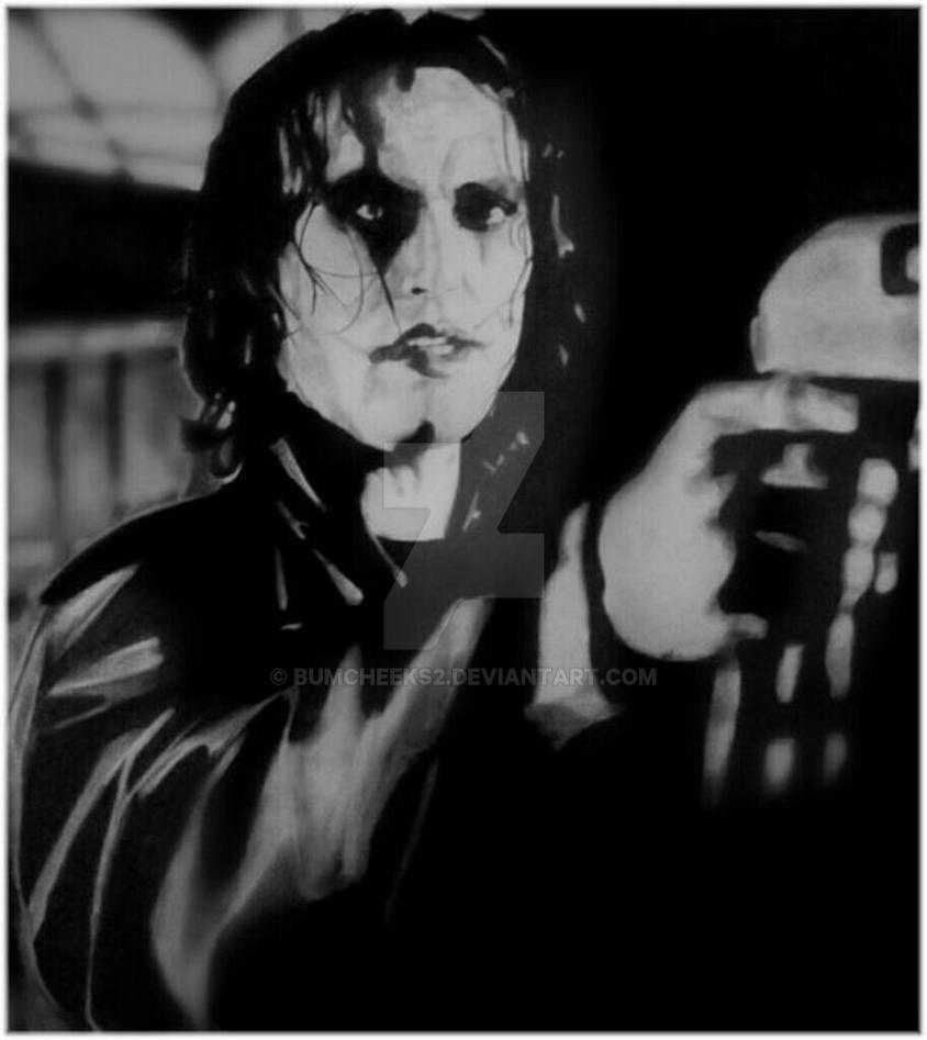 BRANDON LEE AS ERIC DRAVEN IN THE CROW CLOSE UP by BUMCHEEKS2