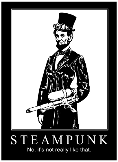 Steampunk Lincoln Tee by rogueymu