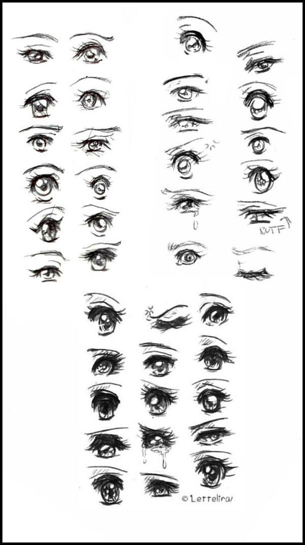 anime eye coloring page wwwimgkidcom the image kid