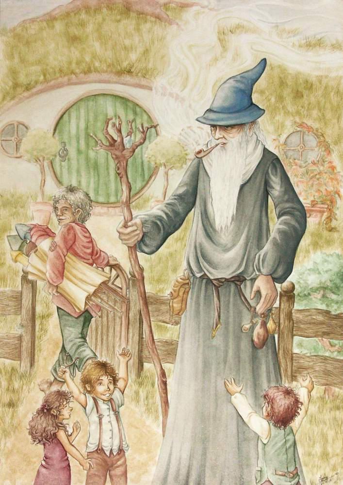 Gandalf and the Hobbitkids by Hakuzwergin