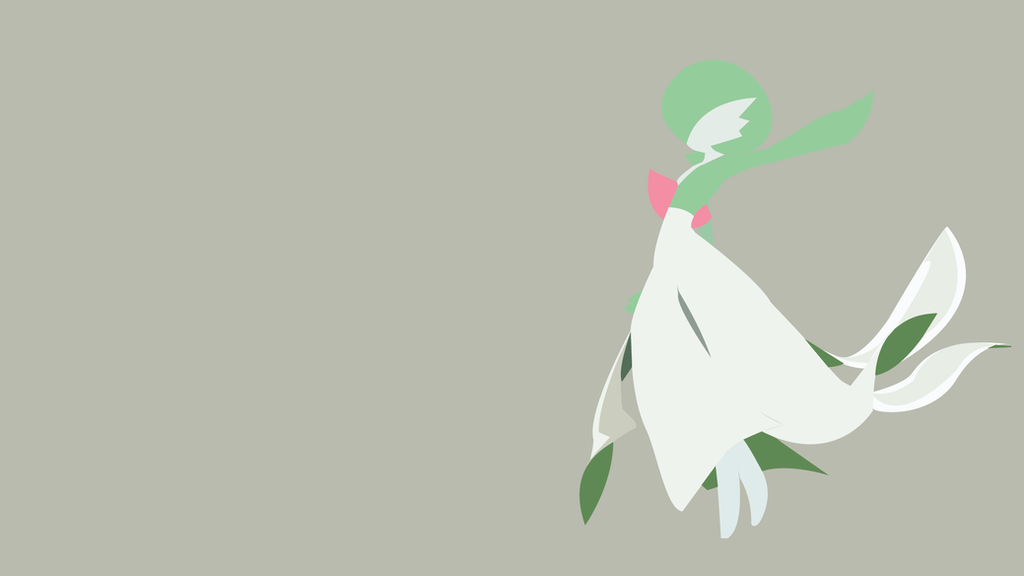Minimalist Wallpaper | Gardevoir | Pokemon by Blugo34