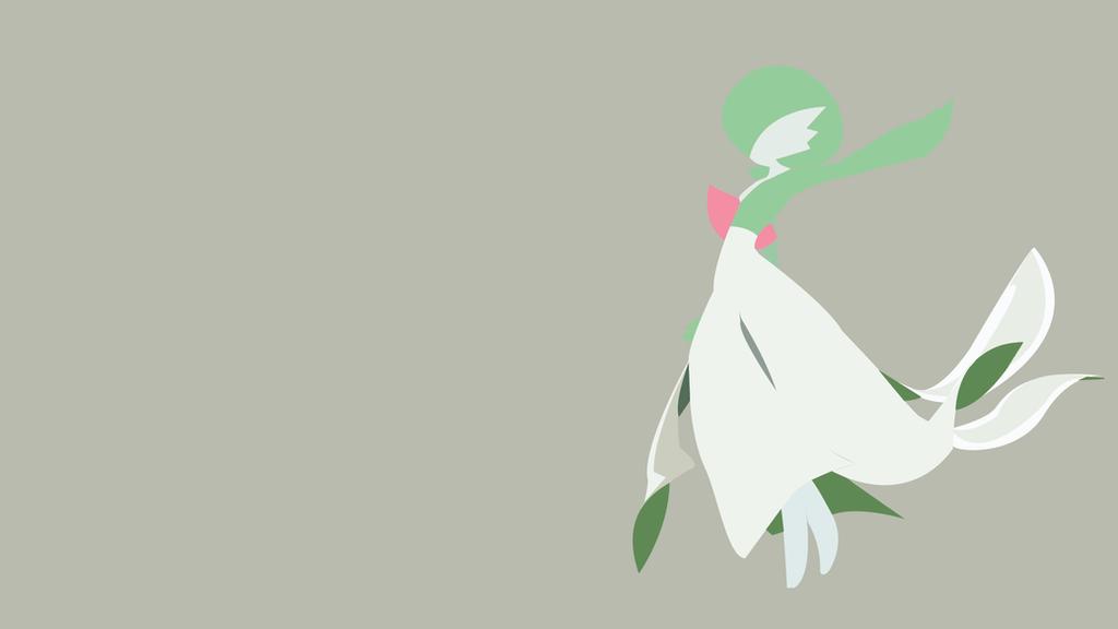 Minimalist Wallpaper | Gardevoir | Pokemon by Blugo34