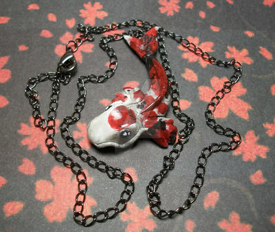 Traditional koi fish necklace by bizarrebazaarcharms on for Koi fish life span