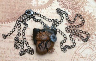 Steampunk Anatomical Heart by BizarreBazaarCharms