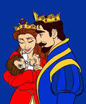 Emotionette baby with the King and the Queen by MyFanFictionPicture