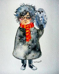 Harry Potter fanart watercolor by Saitonart