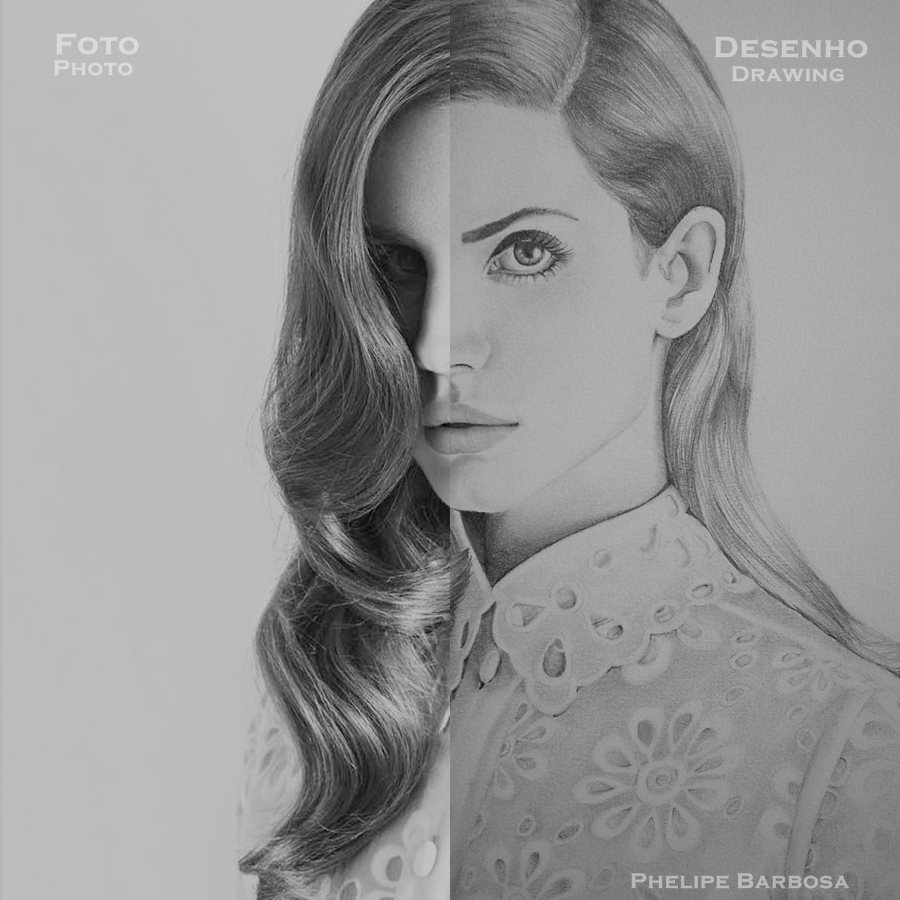 Lana Del Rey - Drawing and photo by phelipebf on DeviantArt