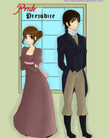 Mr Darcy and Elizabeth Bennet by Say-Erizabesu