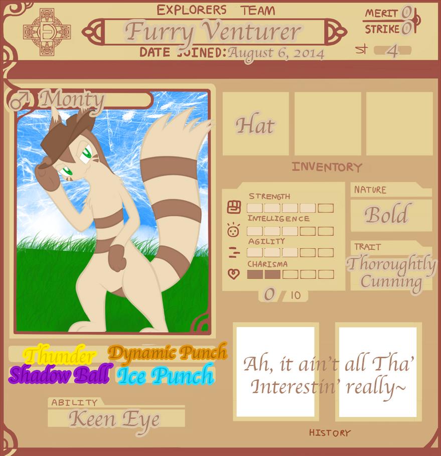 PMDUnity: Furry Venturer by SHADOWFAN996