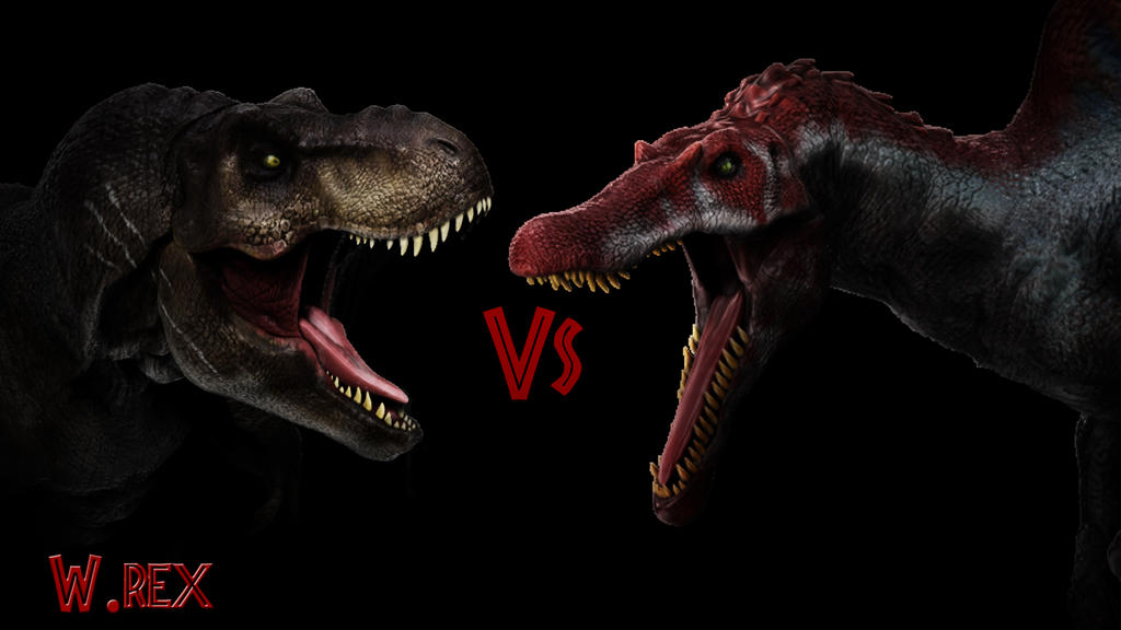 Rematch Spinosaurus vs T rex jw fallen kingdom by Wolfhooligans