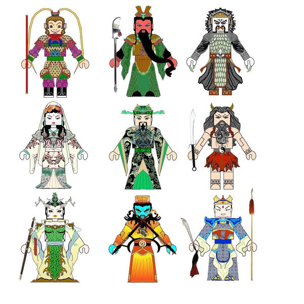 Chinese Mythology Minimates by Chazwinski