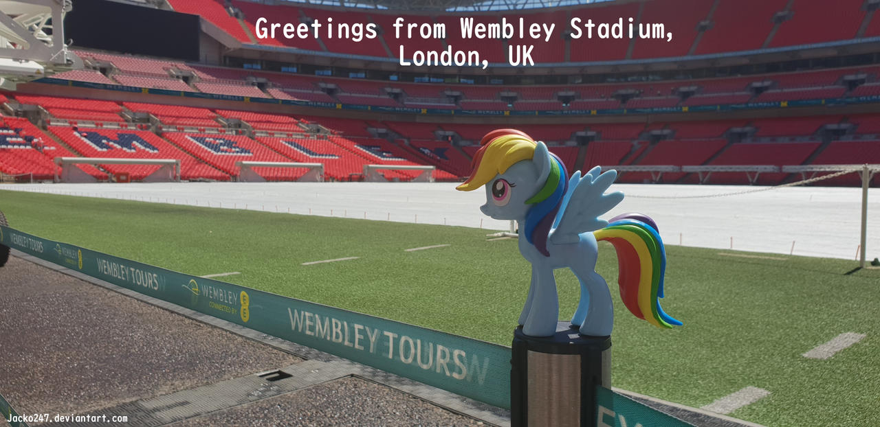 Rainbow Dash in Wembley Stadium by Jacko247