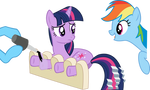 Twilight Sparkle getting a hooficure (request)