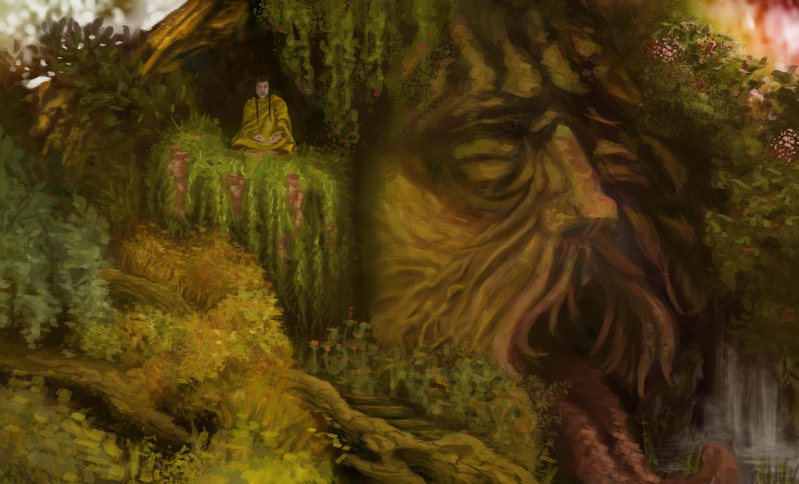 redgreen Monk Tree2 by carocha