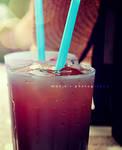 blue straws...