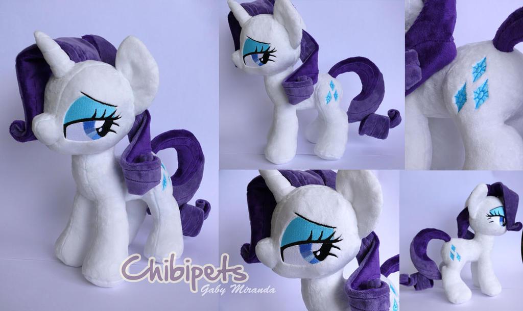 Rarity custom plush by Chibi-pets