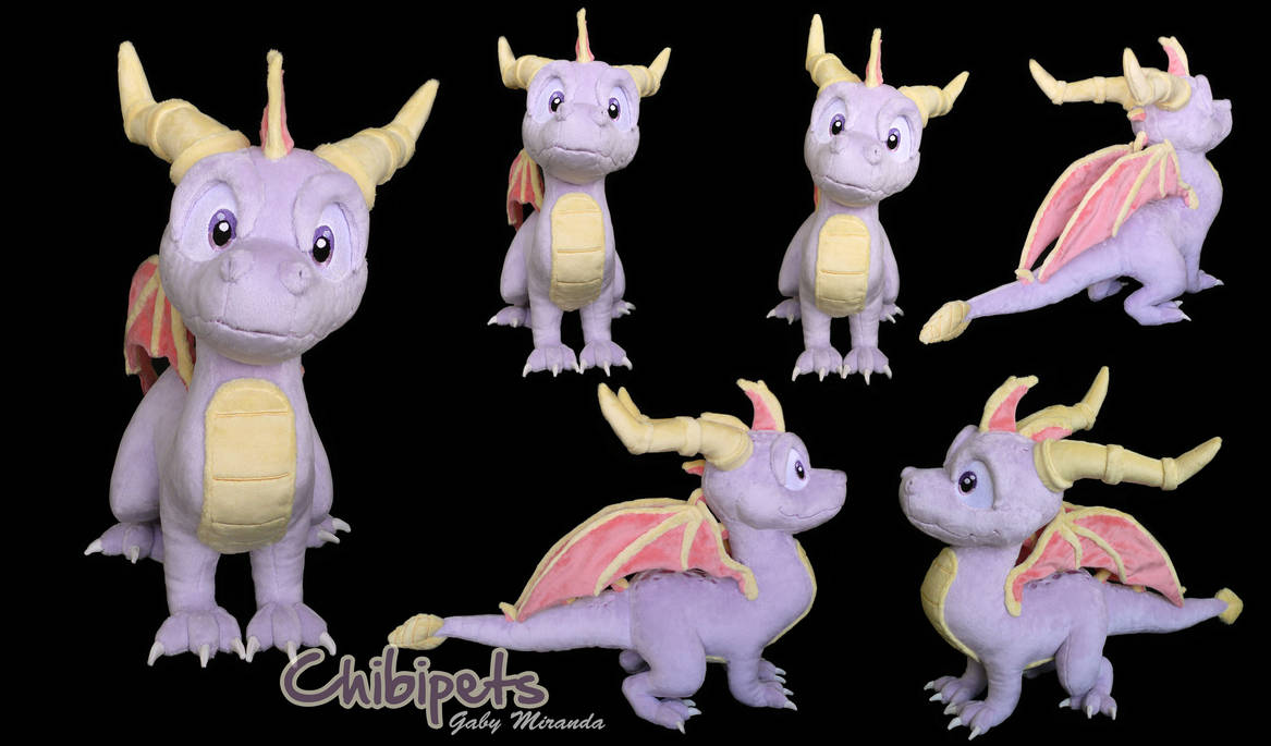 Spyro Custom Plush by Chibi-pets