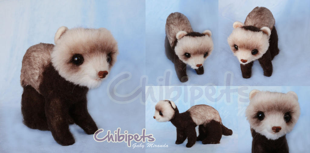 Baby Ferret Custom Plush by Chibi-pets