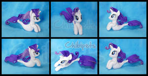 Rarity  ( SeaPony) Custom Plush