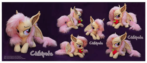 Laying Flutterbat Custom Plush by Chibi-pets