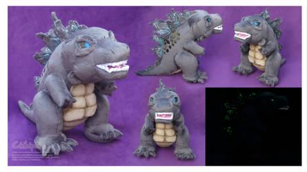 Chibi Godzilla  Handmade Custom Plush by Chibi-pets