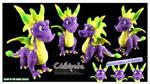 Spyro Power-Up Acid Breath Handmade Custom Plush by Chibi-pets