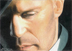 Jason Statham sketch card by jenchuan