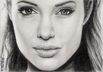 Angelina Jolie sketch card