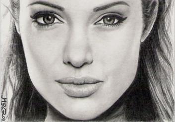 Angelina Jolie Sketch Card By Jenchuan On DeviantArt