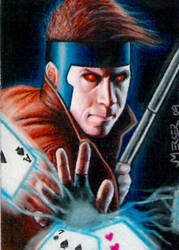 Gambit sketch card commission by jenchuan
