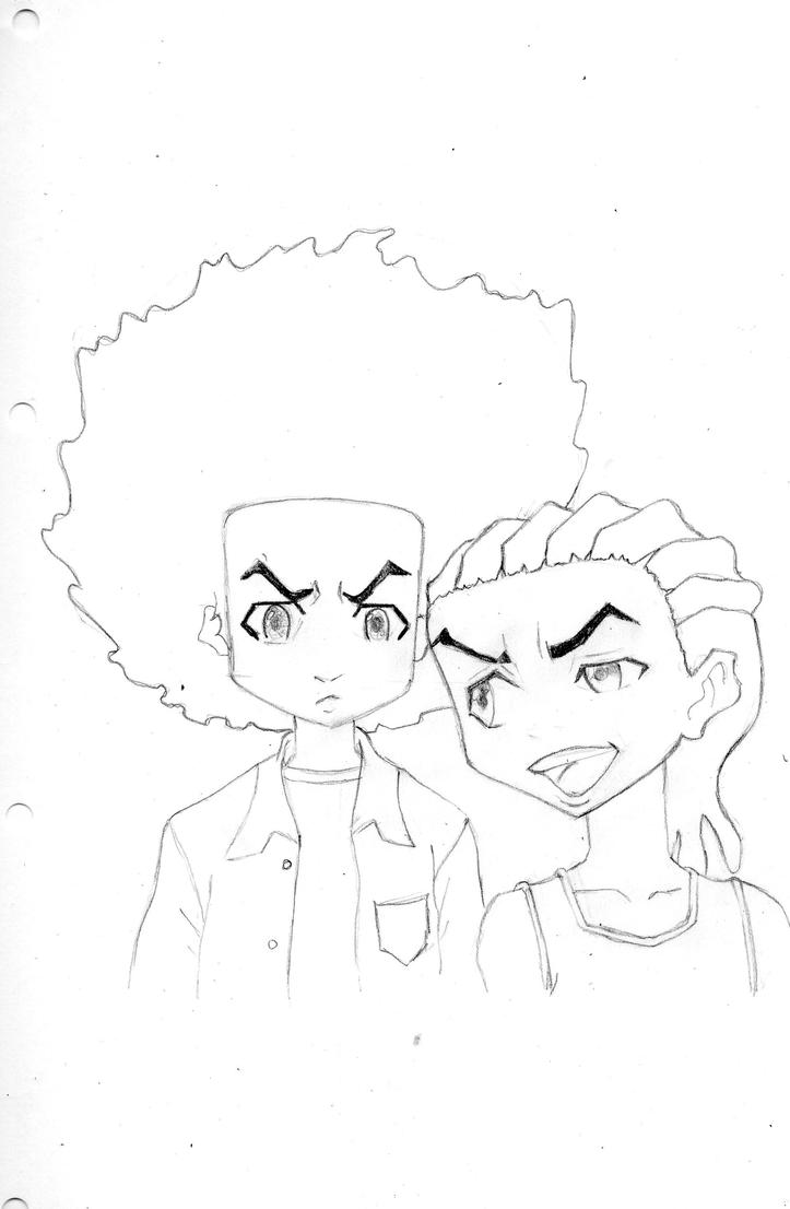 the boondocks riley and huey by sandi x