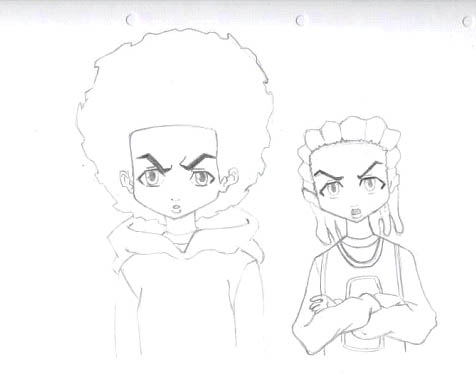 the boondocks riley and huey ii by sandi x