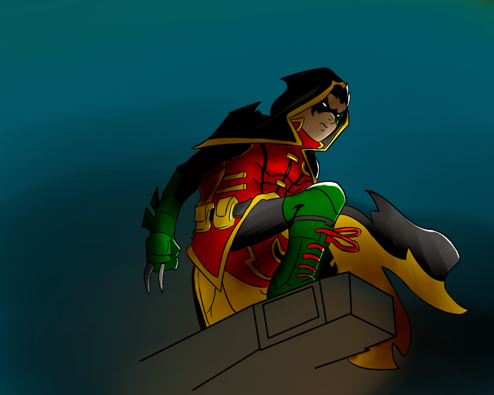 Robin (damian wayne) by Fasooli