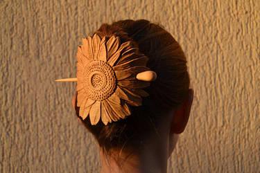 handmade hair barrette from wood by IvayloZlatev