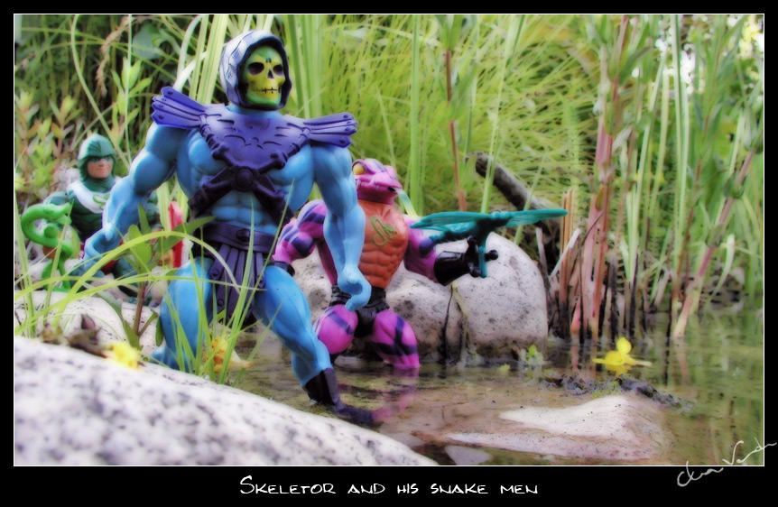 Skeletor and his snake men by cipher