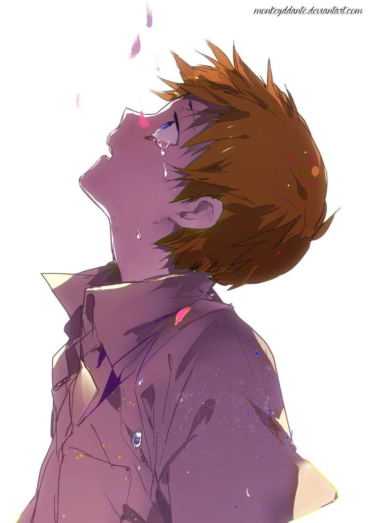 Random Anime Boy - Sad by MonkeyDDante