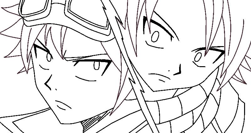 Natsu Lineart : Natsu and edo lineart by mrsnami on deviantart